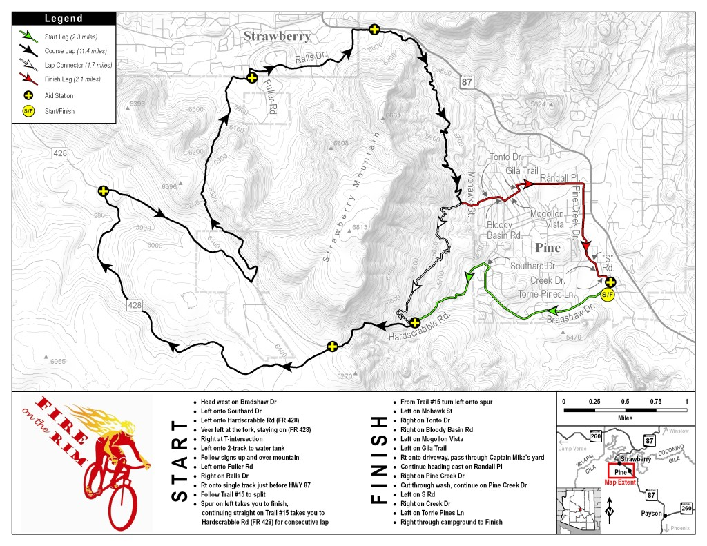Biking Trails near Cabins on Strawberry Hill